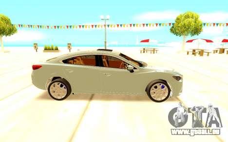 Mazda 6 pour GTA San Andreas laissé vue