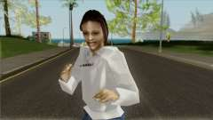 Das Mädchen im sweatshirt