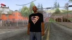 Black Superman USA T-Shirt für GTA San Andreas