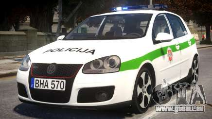 Volkswagen Golf 5 GTI Lithuanian Police pour GTA 4