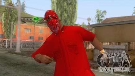 Crips & Bloods Ballas Skin 6 pour GTA San Andreas