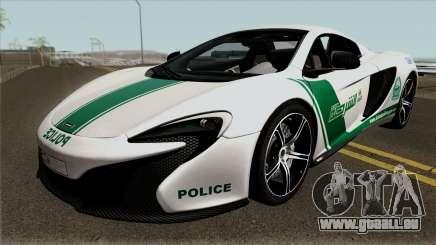 McLaren 650S Spyder Dubai Police v1.0 pour GTA San Andreas