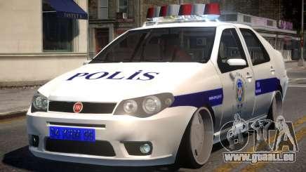 Fiat Albea Turk Police pour GTA 4