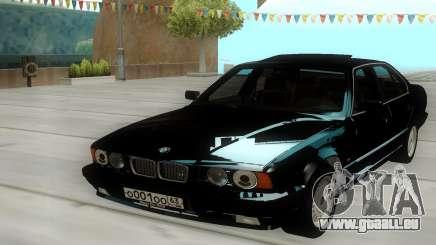 BMW 525i E34 Black pour GTA San Andreas