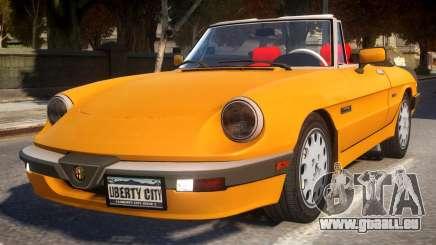 1986 Alfa Romeo Spider 115 v1.0 für GTA 4