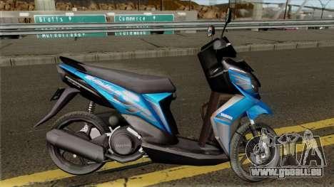 Yamaha Soul GT STD Pour GTA San Andreas Vue Arriere