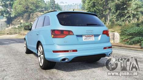 GTA 5 Audi Q7 V12 TDI quattro (4L) 2008 [replace] arrière vue latérale gauche