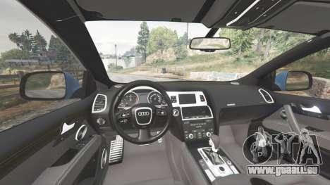 GTA 5 Audi Q7 V12 TDI quattro (4L) 2008 [replace] arrière droit vue de côté