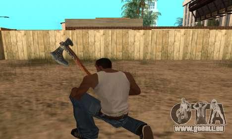 Hacha Leviathan God of War 4 pour GTA San Andreas
