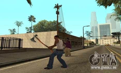 Hacha Leviathan God of War 4 pour GTA San Andreas deuxième écran