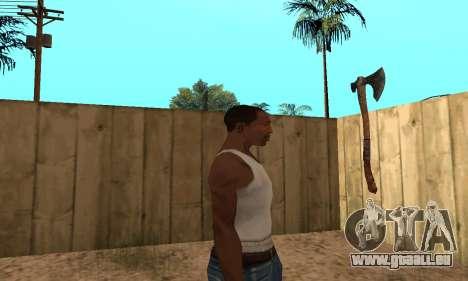 Hacha Leviathan God of War 4 pour GTA San Andreas troisième écran