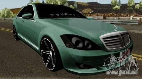 Mercedes-Benz S500 Vossen pour GTA San Andreas vue intérieure