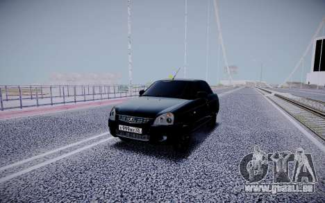 Lada Priora Black Edition pour GTA San Andreas