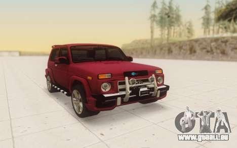 Niva 2121 Urban pour GTA San Andreas vue arrière