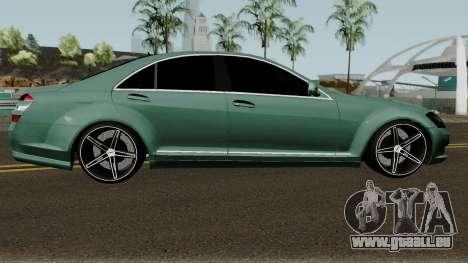 Mercedes-Benz S500 Vossen pour GTA San Andreas vue arrière