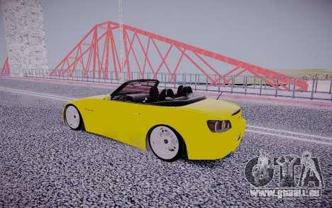 Honda S2000 für GTA San Andreas Rückansicht
