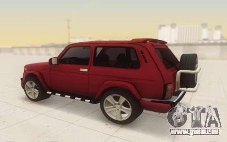 Niva 2121 Urban pour GTA San Andreas vue de droite