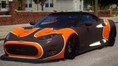 Spyker C8 Aileron Spyder PJ2 pour GTA 4