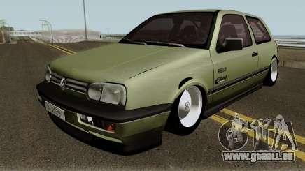 Volkswagen Golf MK3 Unmarked Army für GTA San Andreas