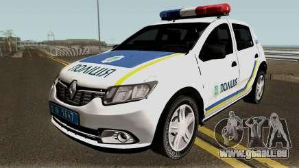 Renault Sandero 2013 Polizei Der Ukraine für GTA San Andreas