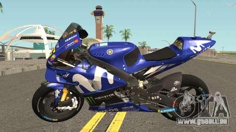 Yamaha YZF M1 2018 pour GTA San Andreas laissé vue