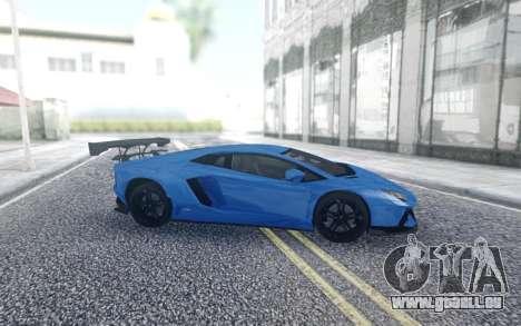 Lamborghini Aventador pour GTA San Andreas sur la vue arrière gauche