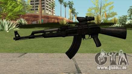 AK47 Black pour GTA San Andreas
