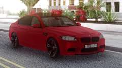 BMW M5 F10 Red RUS Plate für GTA San Andreas