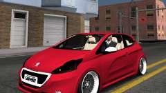 Peugeot 208 GTI black STANCE pour GTA San Andreas