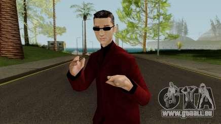 Wu Zi Mu - Red Suit pour GTA San Andreas