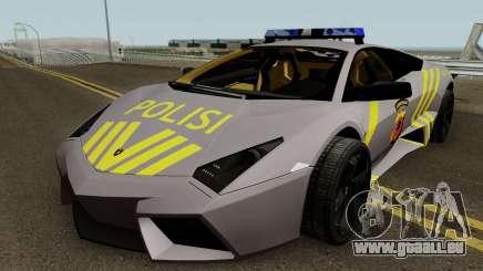 Lamborghini Reventon Polres Indonesia für GTA San Andreas