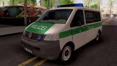 Volkswagen Transporter T5 Polizei pour GTA San Andreas