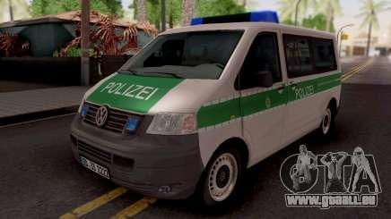 Volkswagen Transporter T5 Polizei für GTA San Andreas