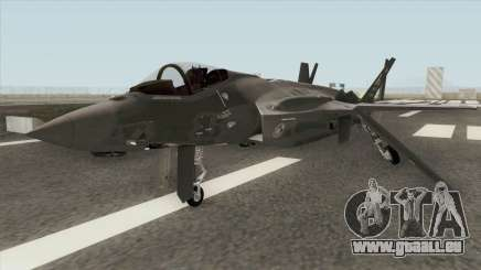 Lockheed Martin F-35A Lighting II Gray für GTA San Andreas