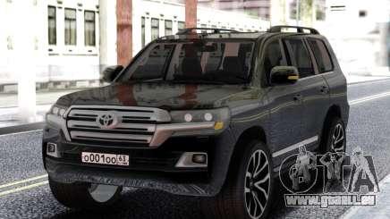 Toyota Land Cruiser 200 Black pour GTA San Andreas