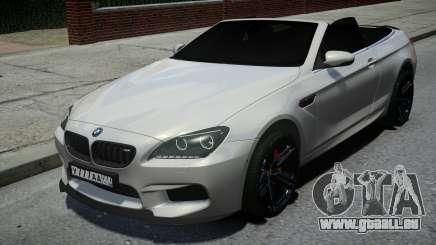 BMW M6 Convertible White pour GTA 4