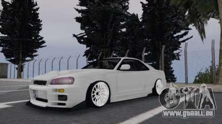 Nissan Skyline R34 White für GTA San Andreas