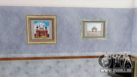 Indian Landmark Photos In CJ House für GTA San Andreas