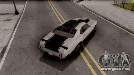 Declasse Sabre GTA 5 Texturas Personalizadas für GTA San Andreas
