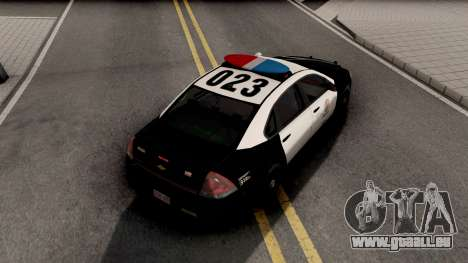 Chevrolet Impala 2007 LSPD Lowpoly pour GTA San Andreas