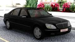Mercedes-Benz S600 W220 Black pour GTA San Andreas