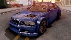 BMW M3 E46 GTR Blue pour GTA San Andreas