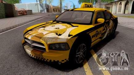 Dodge Charger SRT8 Taxi Itasha pour GTA San Andreas