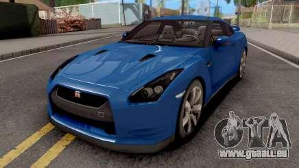 Nissan GT-R R35 Blue pour GTA San Andreas