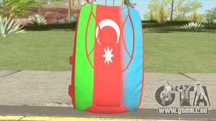 New Parachute (Azerbaijan Flag) pour GTA San Andreas