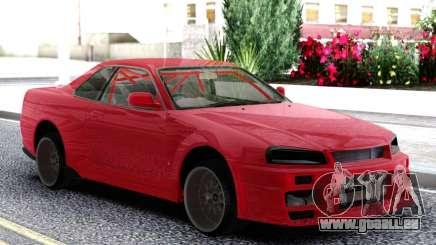 Nissan Skyline R-34 Red pour GTA San Andreas