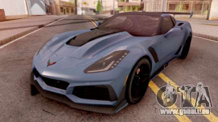 Chevrolet Corvette ZR1 2019 Blue pour GTA San Andreas
