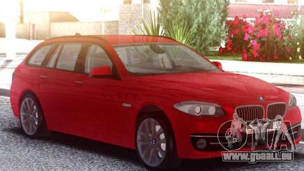 BMW 530D Touring Red pour GTA San Andreas