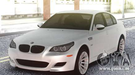 BMW M5 E60 Sedan White pour GTA San Andreas