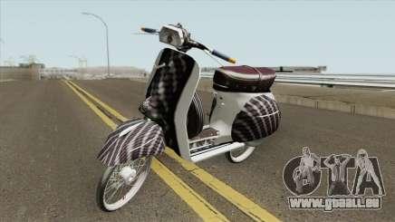 Vespa 180SS Rim Nouvo MX White Reborn für GTA San Andreas